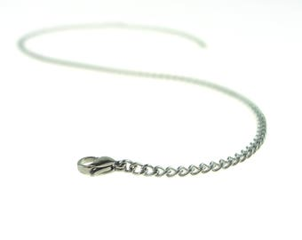 """16"""" Chain Choker All No Tarnish Stainless Steel Including Clasp"""