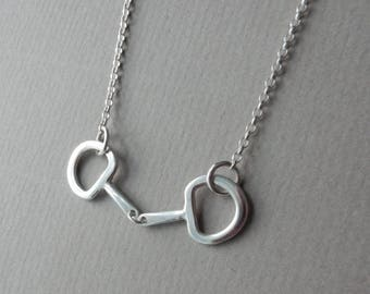 Sterling Silver Horse Bit Snaffle Necklace