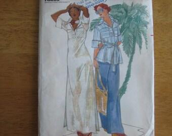 Butterick Pattern 4251 Misses' Dress, Top & Pants      1970's      Uncut