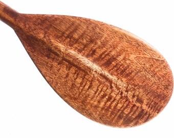 "Blonde Curly Koa Paddle w/ Straight Shaft 36"" - Steersman Design Made in Hawaii | #koa6071"
