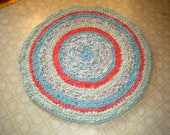 Multi Color Rag Rug in Soft Pretty Colors - for Etsy