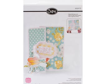 Sizzix - Decorative Flip-Its Card - Movers and Shapers Design by Stephanie Barnard - 658839