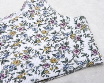 80's thermal floral crop top - large size