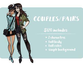 Custom Couples / Friends Illustration