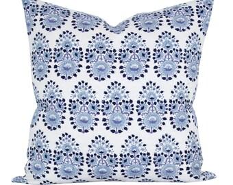 Lanka pillow cover in Lapis