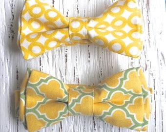 READY TO SHIP (size 3-6 yo), yellow bowtie, yellow bow ties, summer photoshoot, spring photoshoot, ring bearer wedding, yellow bow, bowtie