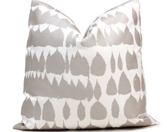 Schumacher Silver Queen of Spain Outdoor Decorative Pillow Covers square or lumbar pillow covers, accent pillow, throw pillow
