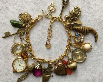 Handmade Vintage Charm Bracelet