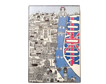 The Puzzle Factory London Union Jack Jigsaw Puzzle 1970 Original Shrinkwrap #JP 19-400 Two Sided