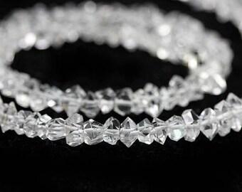 SUMMER SALE Herkimer Diamond Crystal Beads 4 Double Terminated Herkimer Diamond Crystal Clear Semi Precious Gemstones