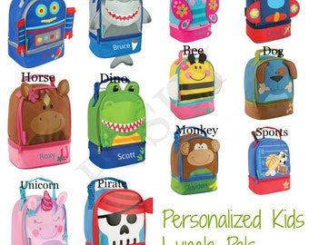 Personalized Kids Lunch Box, Lunch Bag, Boys Lunch box, Girls Lunch box, Lunch Pals 12 different designs