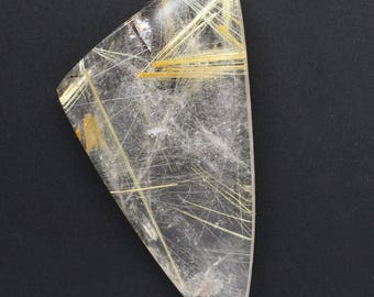 Rutilated Quartz  Cabochon