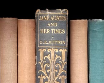 Antique book Jane Austen and Her Times by G. E. Mitton vintage 1900s biography book