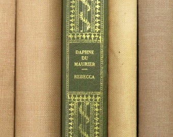 Faux leather Rebecca by Daphne du Maurier vintage book