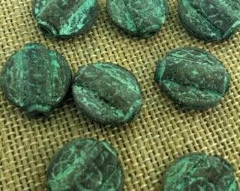 Ethnic style verdigris beads