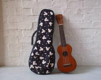 Soprano ukulele case - Cotton Canvas Ukulele Case (Ready to ship)