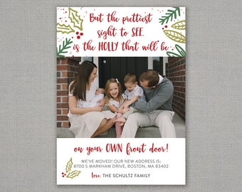Christmas Card - Holly on your Own Front Door