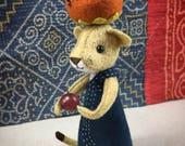 Dandelion hand-stitching kit, lioness, plush lion, lion doll kit, DIY Lioness