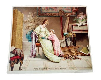Hires Root Beer Ad Litho And Then The Fairies Went To Bed Victorian Trade  Card Mother