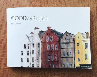 100 Day Project Book 2017 - Katiedraws - A painting or drawing a day