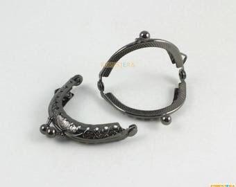 1Pcs Purse Frame 5CM Gunmetal Bag Purse Frame Handbag Frame (KJJ54)