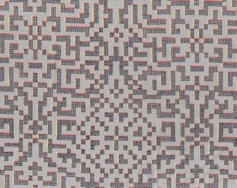 Fat quarter Farhad D Liberty print, grey yellow maze design Liberty of London tana lawn