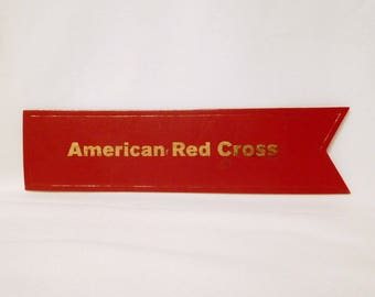 Vintage AMERICAN RED CROSS Bookmark - 7 Inches - Book Mark