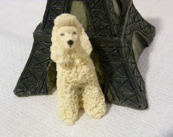 Sandicast USA Barkitecture Poodle & Eiffel Tower Dog House Statue in Box