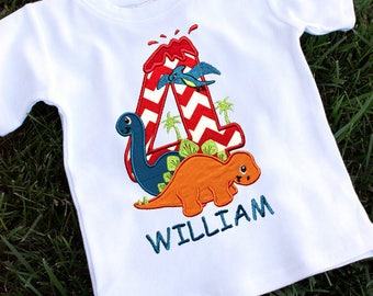 Dinosaur 4th Birthday Shirt