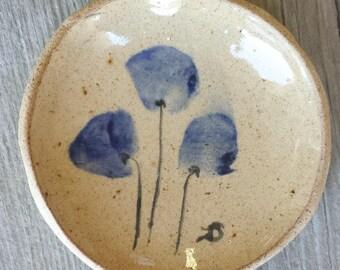 Jewelry Trinket Flower Dish - Handmade Small Ceramic | Rustic