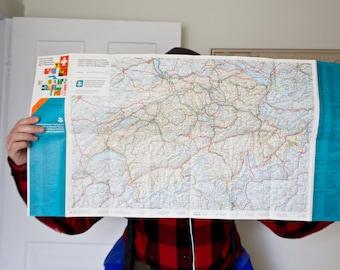 Vintage Switzerland Map Switzerland Map Vintage Map