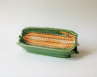 La Sur Table Corn Cob Holder Dishes Art Deco