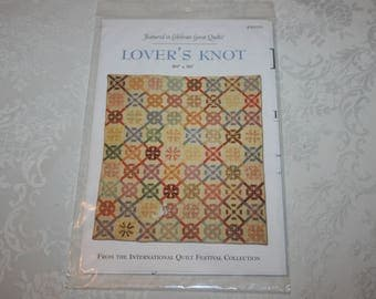 NEW Lover's Knot Pattern, 80 x 90, Quilting, Quilt, Sew, Sewing Instructions, 2004, International Quilt Festival Collection