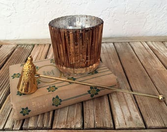 Vintage Ornate Brass Candle Snuffer
