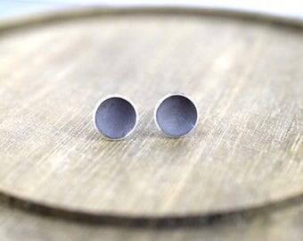 Studs - Oxidized Concave