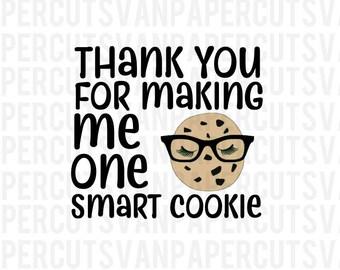 Smart Cookie SVG Silhouette File, Cricut File, Vinyl Cut File