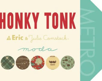Honky Tonk Fabric Collection by Eric and Julie Comstock for Moda Fabrics - Fat Quarter Bundle of 34
