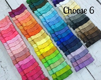 ON SALE Girls Hair Clips, 6 Tuxedo Alligator Clips, You Choose From 85 Colors, Starter Set, Babies Toddler Girl Women