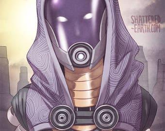 Tali Zorah Mass Effect Tribute Poster Print Art