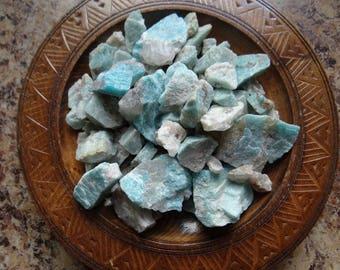 AMAZONITE Stone Gemstone Crystal Raw 4 oz Wiccan Pagan Metaphysical Reiki Chakra Supply