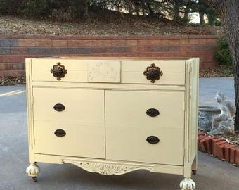 """15% OFF SALE BATHROOM Vanity To Custom Order! Antique Dresser We Will Convert Into Bath Cabinet! ~ 28"""" to 48"""" Wide ~ Shabby Chic Painted"""