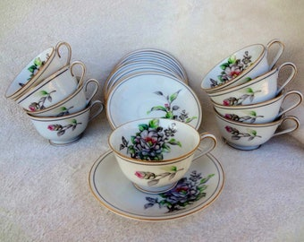 Vintage Jyoto China Cups and Saucers