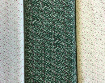 FabricFreedom Festive Friends Collection FF303 by the half metre in green, cream and cream blue