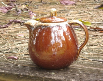 Hull Brown Drip Oven Proof Teapot