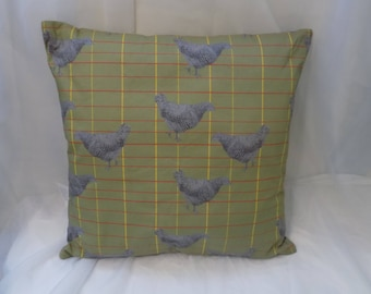 Chicken Pillow Sham Using Original Sketch