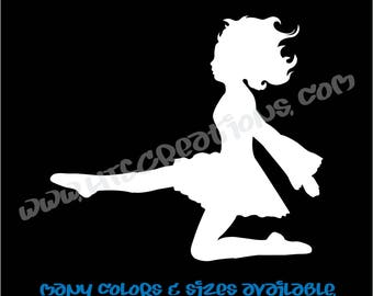 Irish Dancer Ghillie Feis Dance High Kick Celtic Vinyl Decal Laptop Car Truck Sticker Boat Mirror Vanity Dresser Locker VIRISHDANCER1