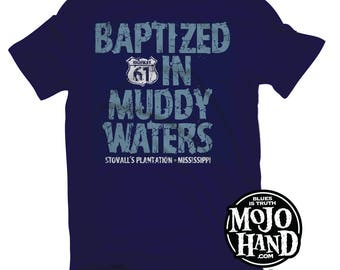Muddy Waters Delta Blues  XL t-shirt from mojohand.com - Blues music gifts - Mississippi Guitar tee
