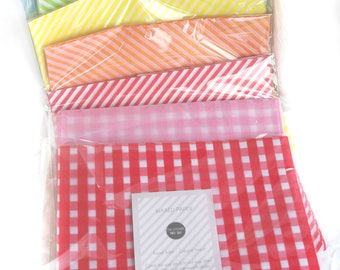 Multi-Pack of 36 total sheets- Choose your own colors Wax Food Paper-Food Wrap-Basket Liner