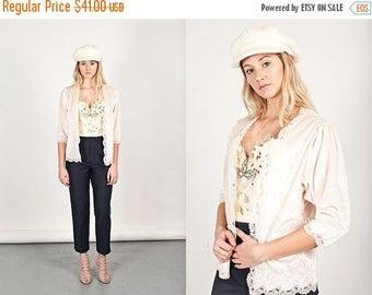 FLASH SALE 70s Christian Dior Lingerie Jacket Vintage Dior Pink Velvet Lace Top