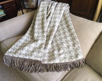 pleasurable designer sofa throws. Houndstooth Throw Blanket  Wedding Gift Contemporary Modern Neutral Blankets Luxury One of a Luxurious and Plush Upscale by AlexsAttic on Etsy
